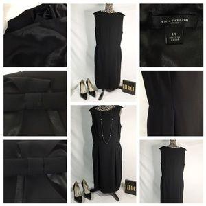 Ann Taylor Lined Black Dress